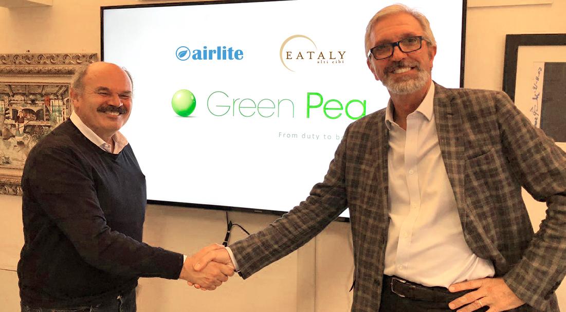 Airlite insieme a Eataly per un futuro più green